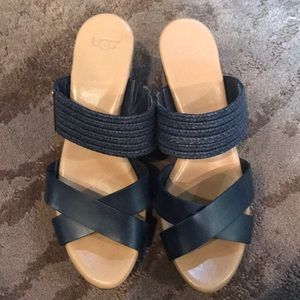 Ugg navy blue wedges
